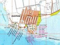 Карта Лазурное