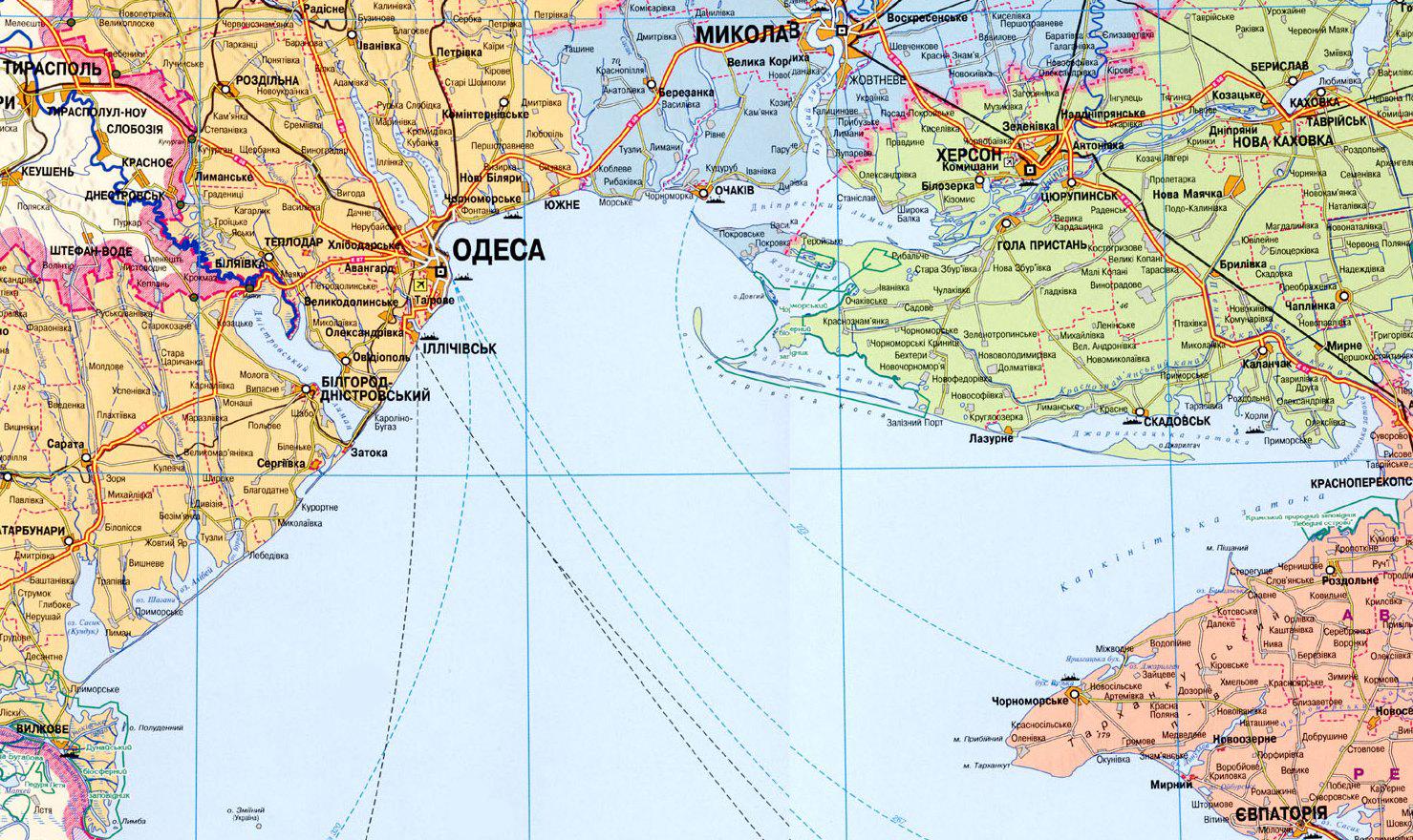 Карты и схемы причерноморья